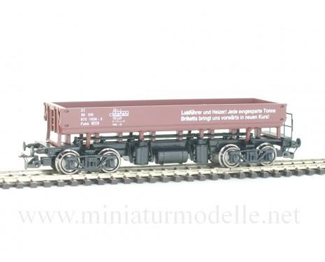 1:120 TT 3618 Zweiseiten-Kastenkippwagen der DR, braun, 4. Epoche