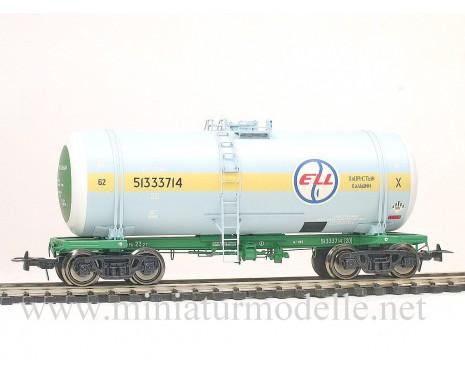 1:87 H0 Kesselwagen mod. 15-1443 ELL mit gelb Streifen, RZD 5. Epoche