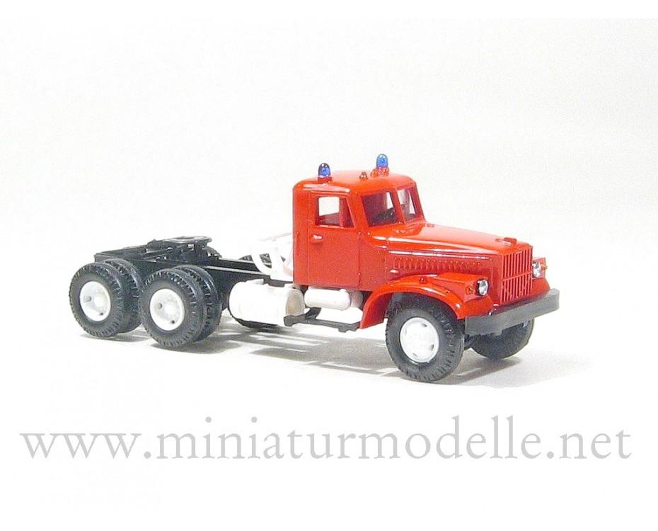 H0 1:87 KRAZ 258 tractor, fire