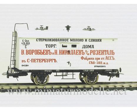 1:87 H0 Eiskühlwagen der Воробьевъ, Николаевъ, Розенталь, 1 Epoche, Kleinserie