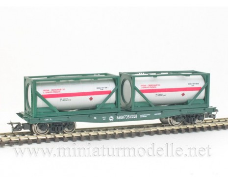 1:120 TT 3817 Container car with two tank container of the RZD livery, era 5