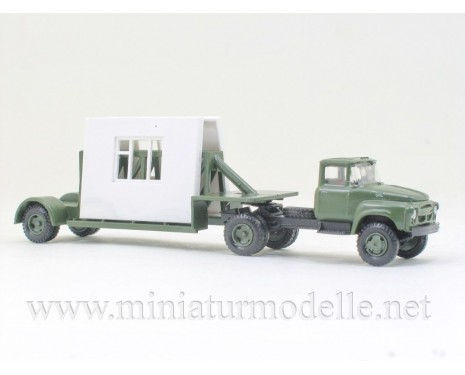 1:120 TT ZIL 130 Sattelzug mit Plattenbauelement, militär