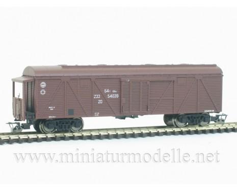 1:120 TT 3526 Gedeckter Reko-Güterwagen mit Bremsebuhe, RZD. Epoche 5