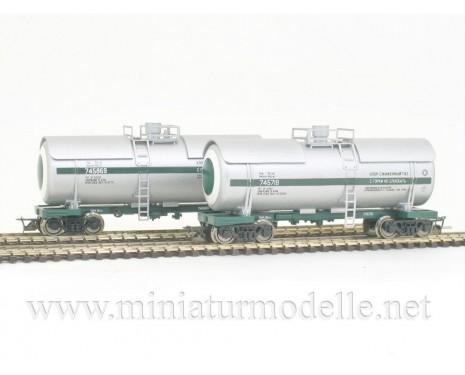 1:120 TT 3705 Tank wagon set for chlorine transport of the SZD livery, era 4