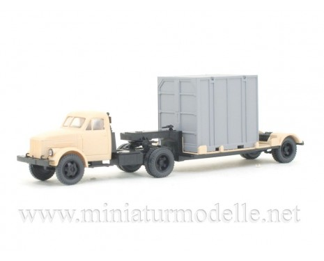 1:87 H0 GAZ 51P tractor with 5Т. container trailer civil