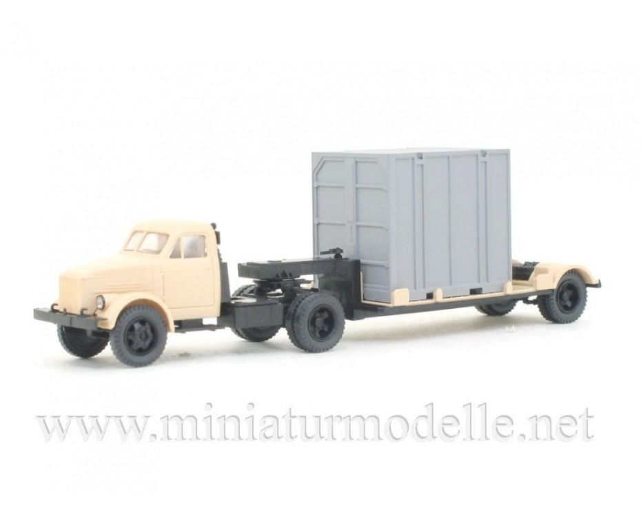 1:87 H0 GAZ 51P Solozugmaschine + 5Т. Container Zivil