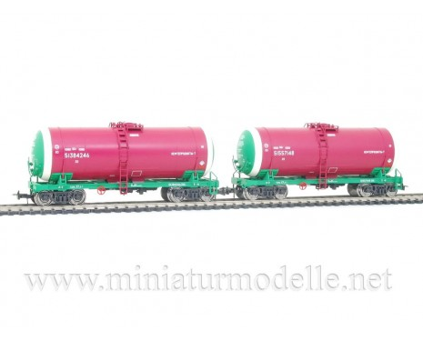 1:87 H0 0014 Tank wagon set for petrol transport, RZD livery, era 5
