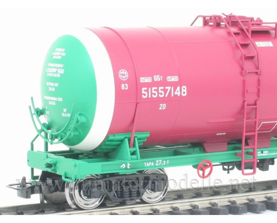 1:87 H0 0014 Kesselwagenset zum Transport von Erdolprodukte der RZD, 5. Epoche