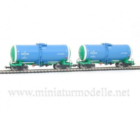 1:87 H0 0015 Kesselwagenset zum Transport von Erdolprodukte der RZD, 5. Epoche