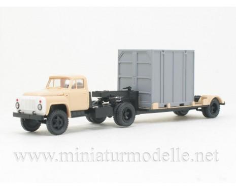 1:87 H0 GAZ 52-06 Solozugmaschine + 5Т. Container Zivil