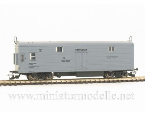 1:120 TT 3950 Refrigerator car for fishtransport of the CCCP livery, grey, era 4