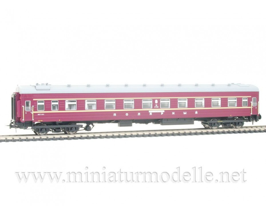 1:87 H0 0241 Express couchette coach car set 4 pcs. of the Polarny livery, CCCP, era 4