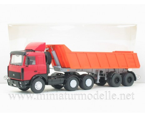 1:43 MAZ 6422 tractor unit with dump trailer MAZ 9506-20