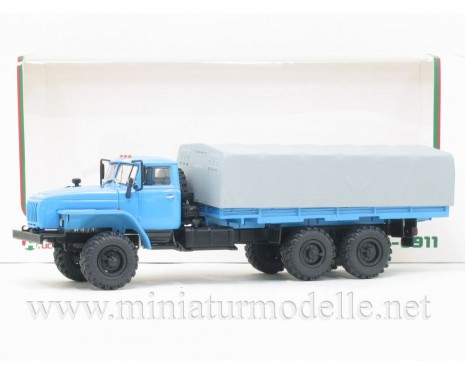 1:43 URAL 4320-0911 load platform with canvas
