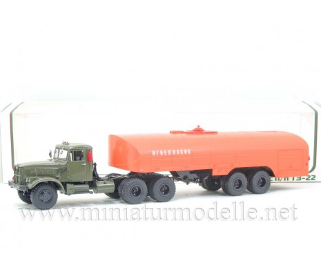 1:43 KRAZ 258 tractor unit with tanker trailer TZ 22