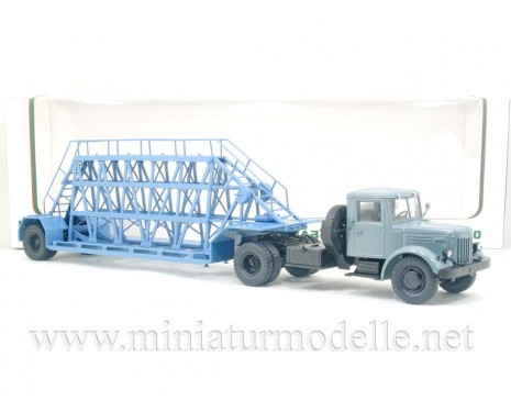 1:43 MAZ 200 V tractor unit with NAMI 790 concrete panel transport semi trailer