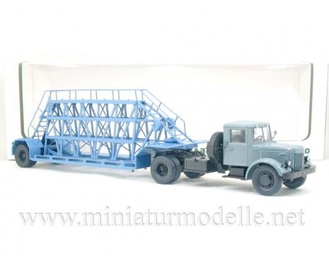 1:43 MAZ 200 V Zugmaschine mit NAMI 790 Plattenbauelement Auflieger