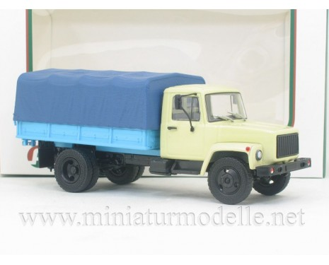 1:43 GAZ 33073 load platform with canvas top