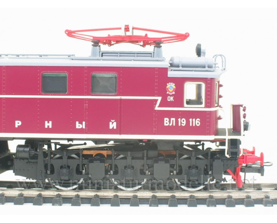1:87 H0 Electric locomotive class VL 19 cherry of the Polarny livery, CCCP, Ep. 3
