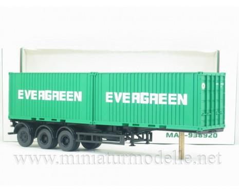 1:43 MAZ 938920 Containerauflieger mit 2 x 20' Container