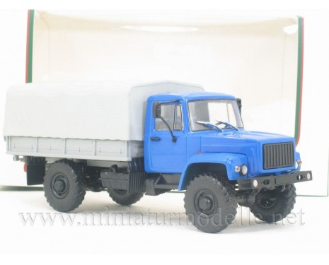 1:43 GAZ 3308 load platform with canvas top
