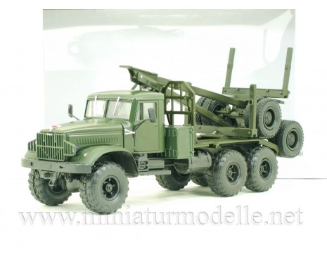 1:43 KRAZ 255 L timber carrying vehicle military