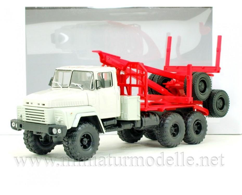 1:43 KRAZ 260 L Holztransporter mit Rungen-Anhänger