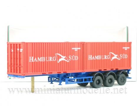 1:43 MAZ 938920 Containerauflieger mit 2 x 20' Container Hamburg SUD