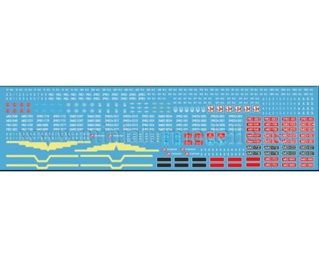 1:87 H0 Abziehbilder für Russische Diesellokomotive M62, 2M62, CCCP, SZD, RZD, LDZ, UZ