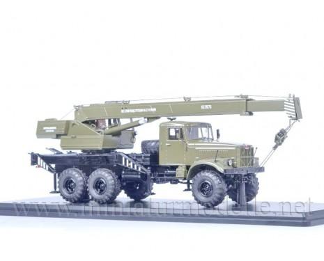 1:43 KRAZ 255 B Mobile crane KS-3575, military