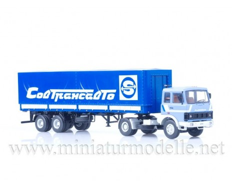 1:43 MAZ 5432 with 93971 2-axle Sovtransavto canvas semi-trailer