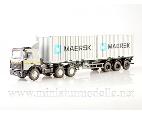 1:43 MAZ 6422 with 938920 3-axle container semi-trailer MAERSK