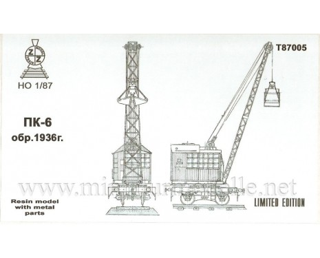 1:87 H0 Railway crane PK 6 1936, small batches model