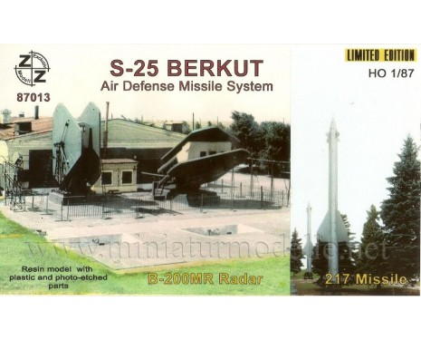 H0 1:87 S 25 Berkut air defense missile 217 system, small batches model