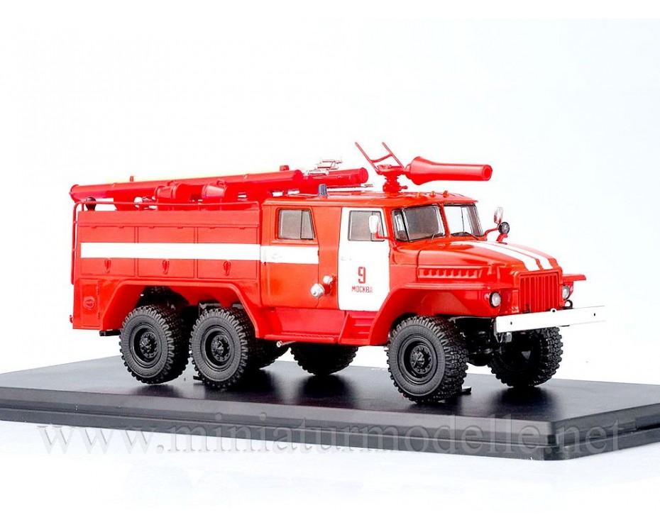 1:43 URAL 375 N Tankloeschfahrzeuge AC-40 C1A FW Feuerwehr