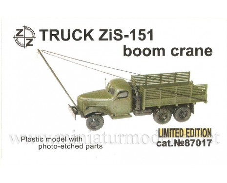 H0 1:87 ZIS 151 boom  crane, small batches model