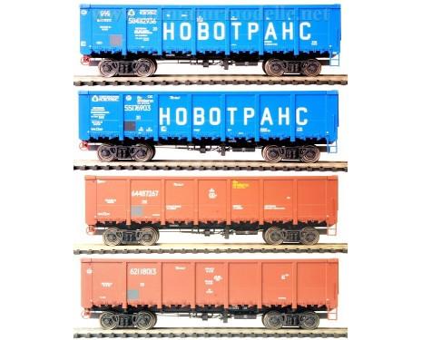 1:87 H0 Offener Güterwagenset 20201s Bauart 12-296-01 der RZD, 5 Epoche