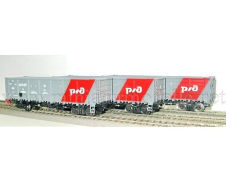 1:87 H0 Offener Güterwagenset 20505s Bauart 12-132-03 der RZD, 5 Epoche
