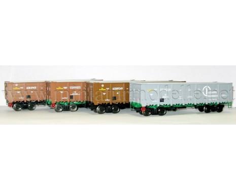 1:87 H0 Offener Güterwagenset 20601s Bauart 12-132-03 RT der RZD, 5 Epoche