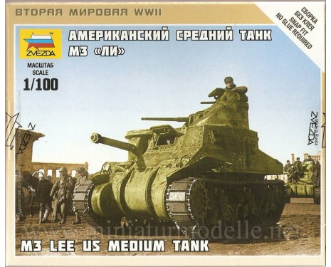 1:100 M3 Lee mittlerer Panzer der US-Armee