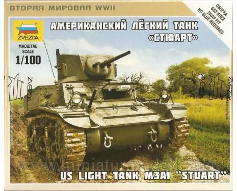 1:100 Stuart leichten Panzer M3A1 der US-Armee