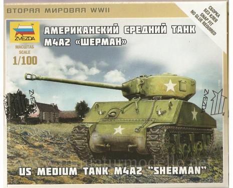 1:100 Sherman M4A2 mittlerer Panzer der US-Armee