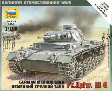 1:100 Pz.Kpfw. III G mittlerer deutscher Panzer