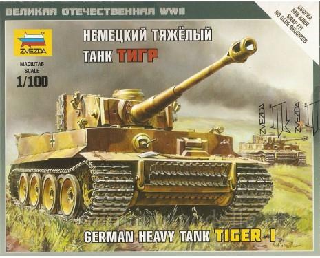 1:100 Tiger Panzerkampfwagen VI schwerer deutscher Panzer Sd.Kfz. 182