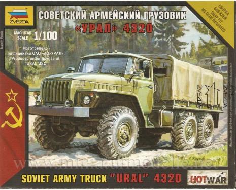 1:100 URAL 4320 sowjetischer Militär Lastkraftwagen