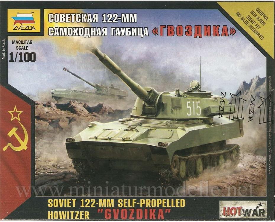 1:100 Gvozdika sowjetischer 122-mm Panzerhaubitze