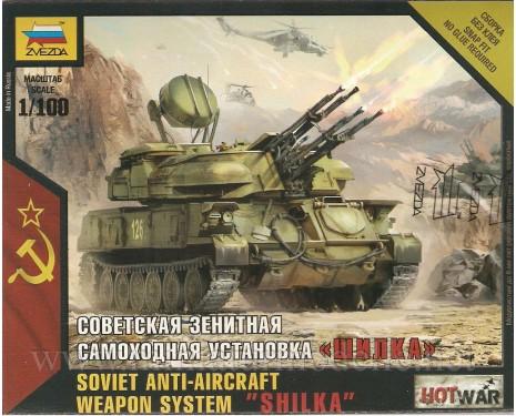 1:100 Shilka sowjetischer Flugabwehrsysteme