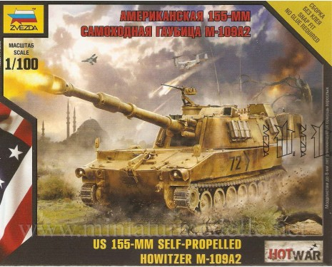 1:100 M-109A2 US 155-mm self-propelled howitzer
