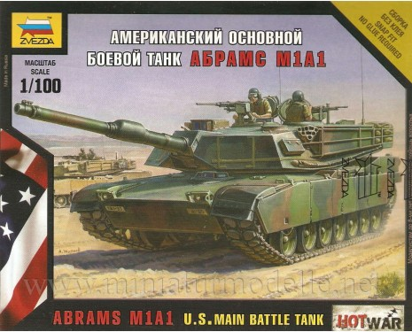 1:100 Abrams M1A1 Kampfpanzer der US-Armee