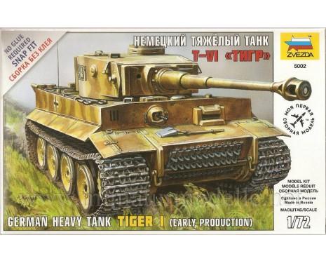 1:72 Tiger Panzerkampfwagen VI schwerer deutscher Panzer (frühe Produktion)